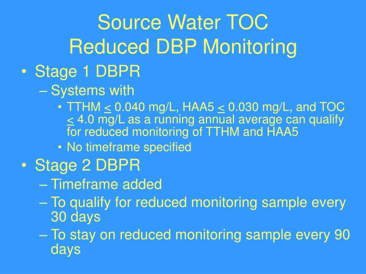 Source Water TOC