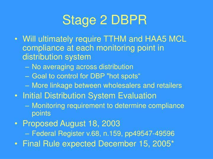 Stage 2 DBPR