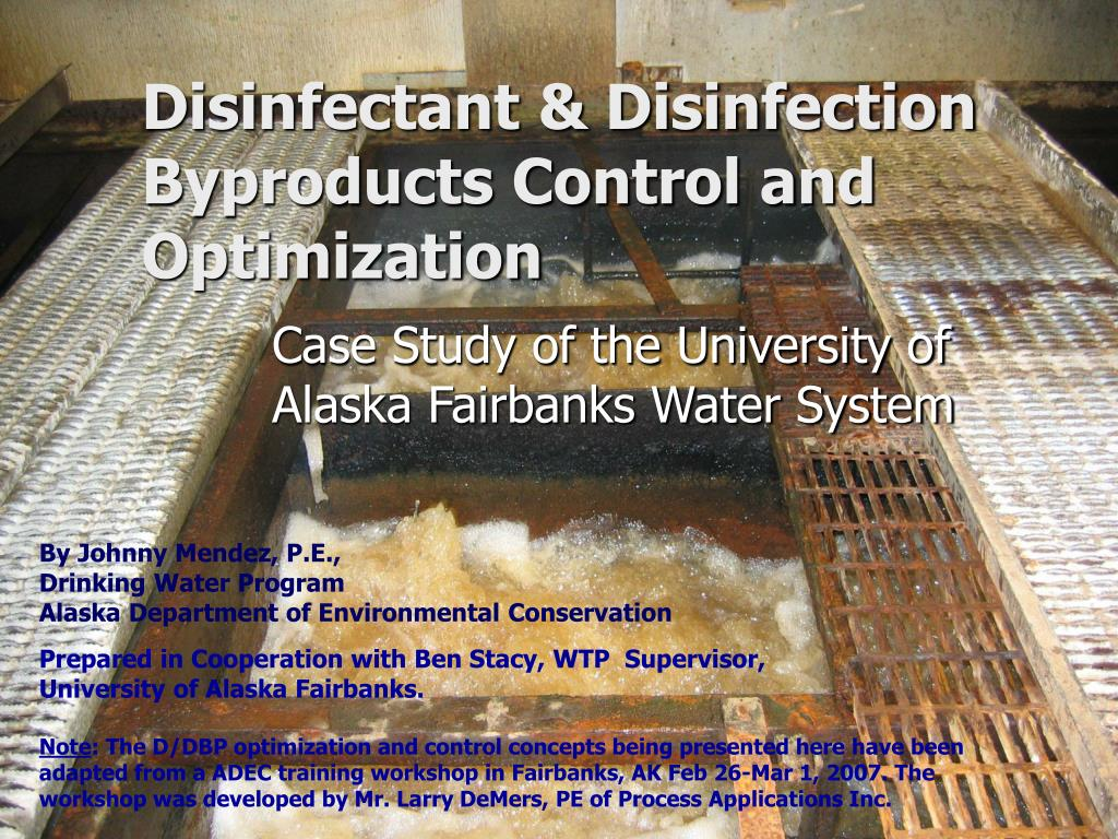 Disinfectant & Disinfection Byproducts Control and Optimization