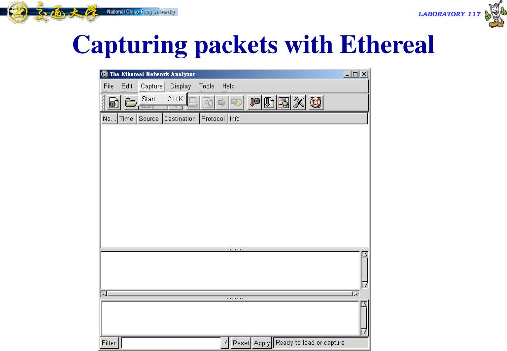 Capturing packets with Ethereal
