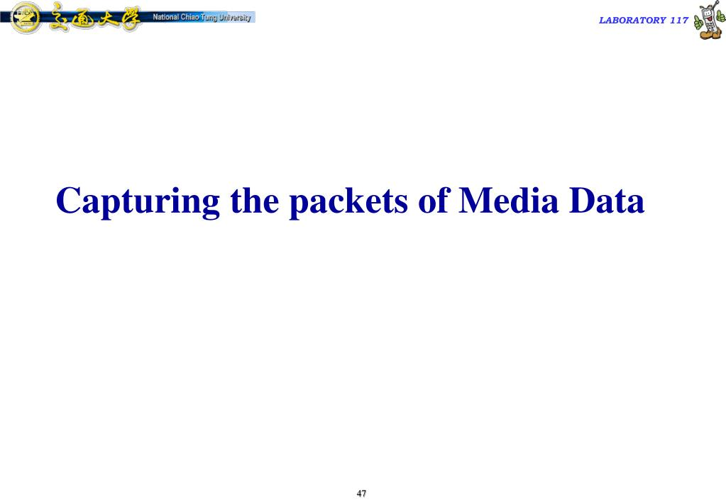 Capturing the packets of Media Data