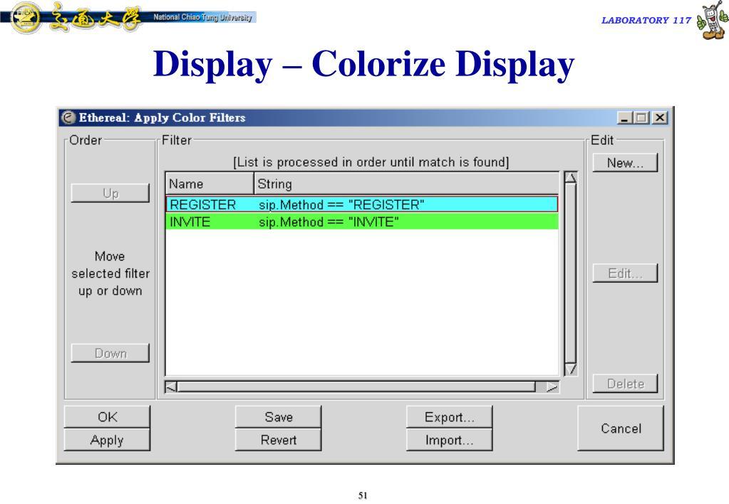 Display – Colorize Display