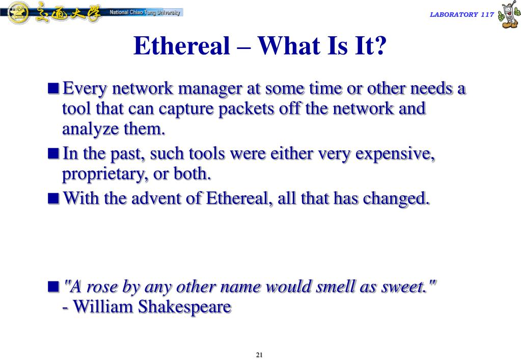 Ethereal – What Is It?
