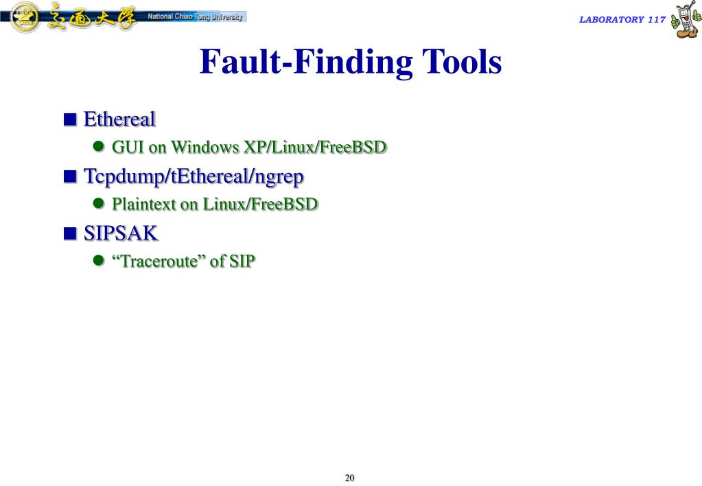 Fault-Finding Tools