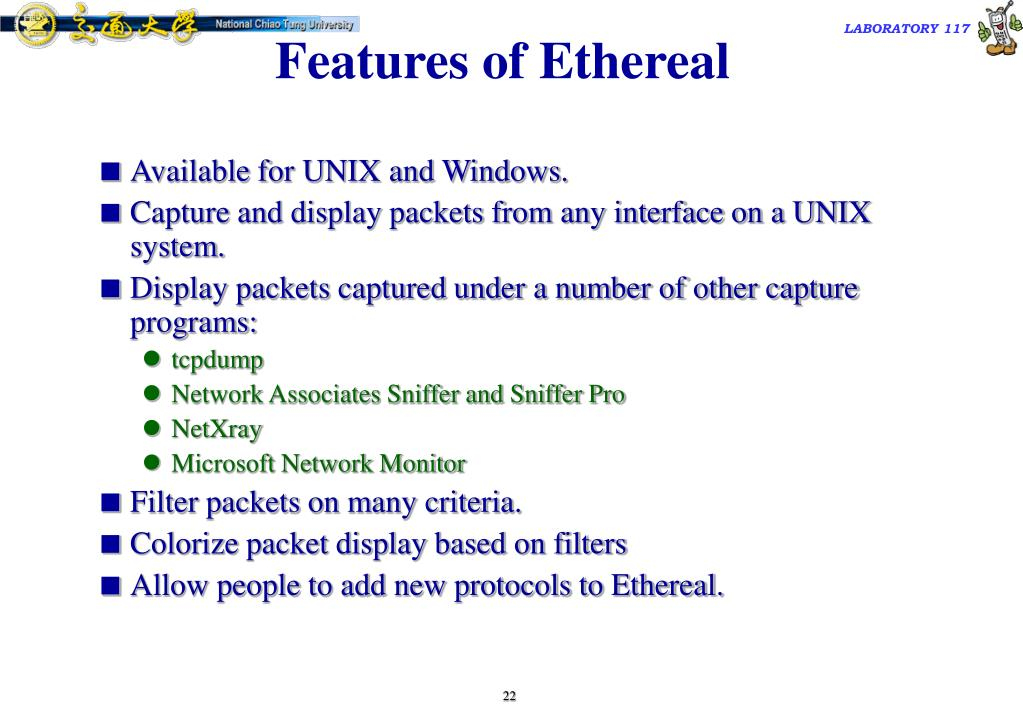 Features of Ethereal