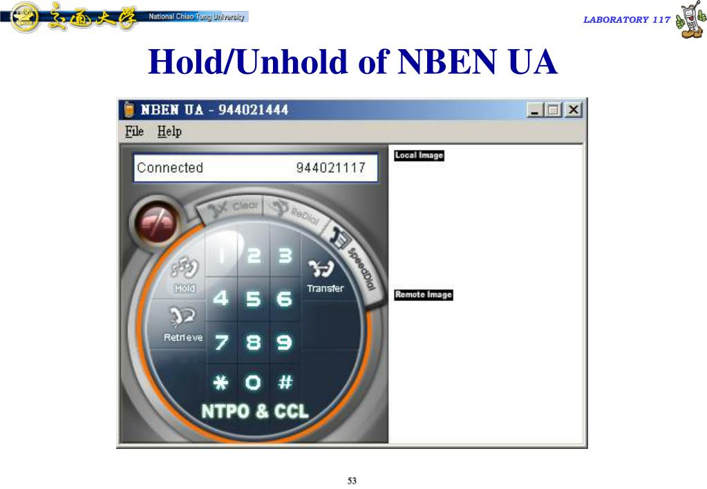 Hold/Unhold of NBEN UA
