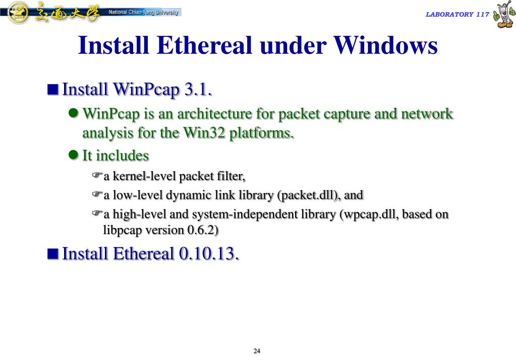 Install Ethereal under Windows