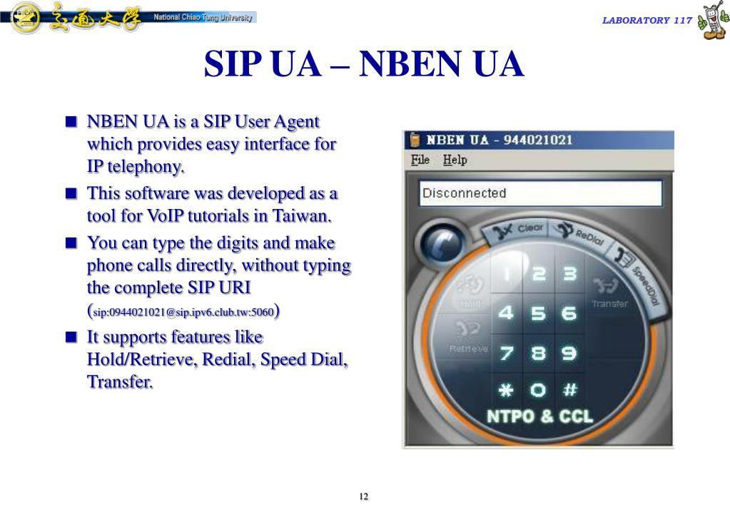 SIP UA – NBEN UA