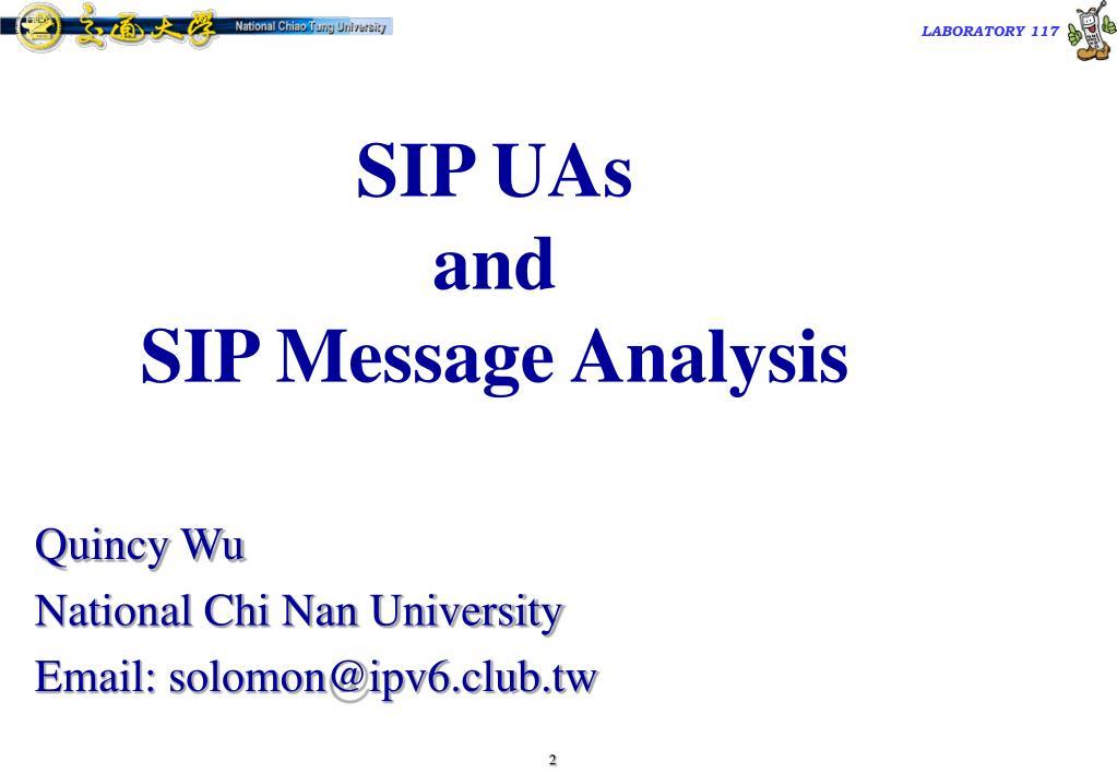 SIP UAs