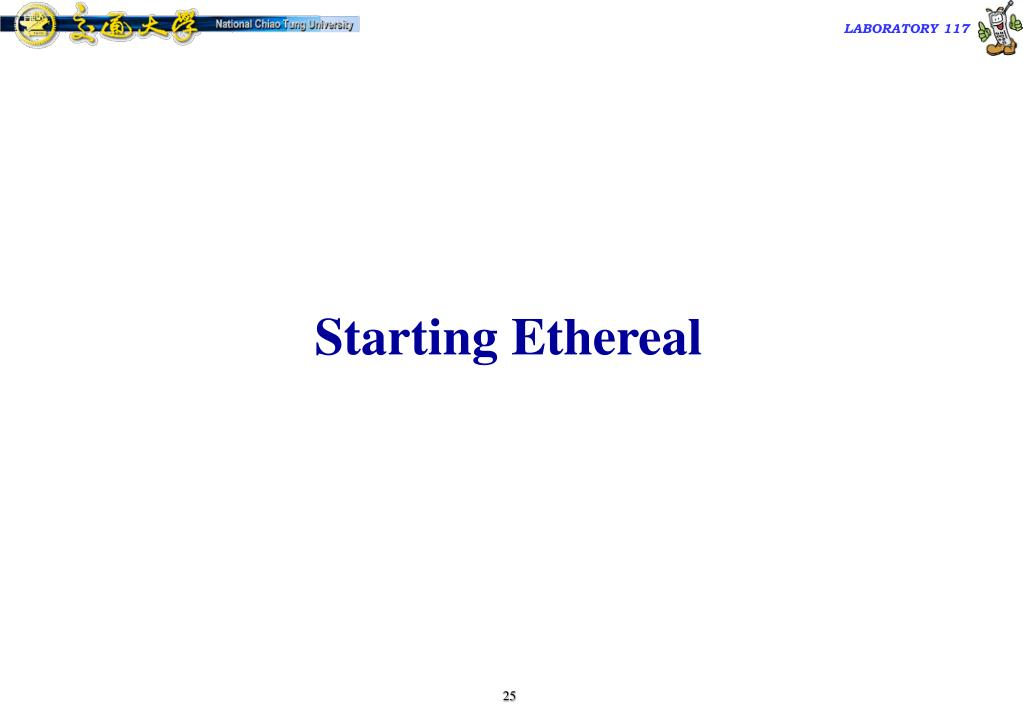 Starting Ethereal