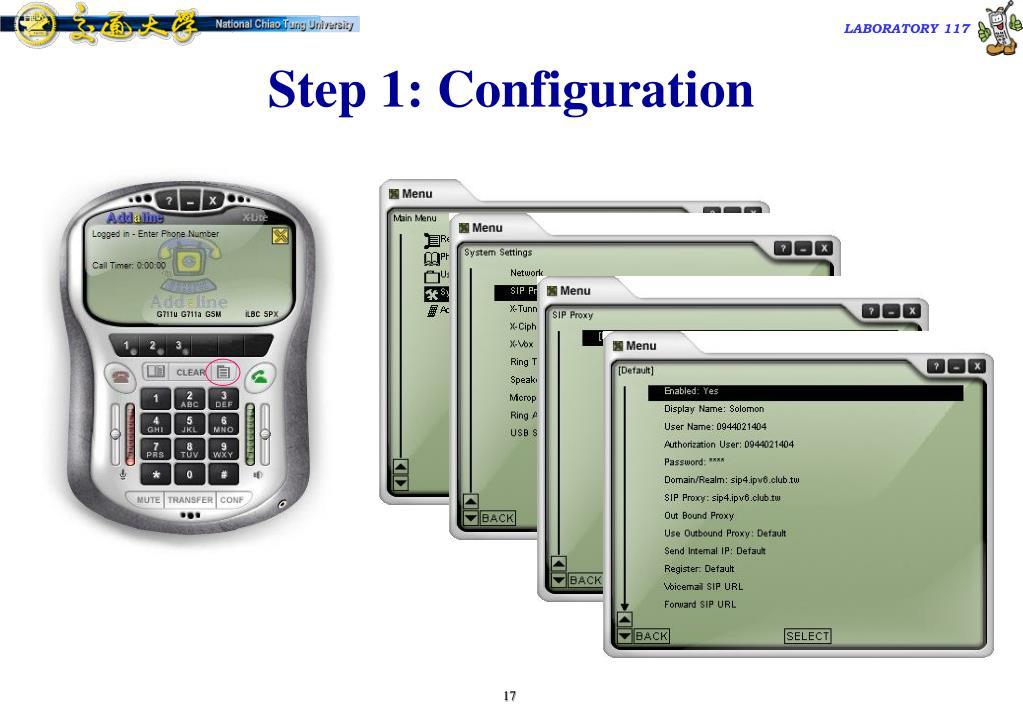 Step 1: Configuration