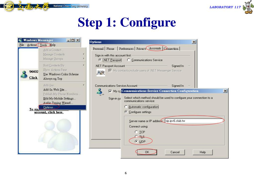 Step 1: Configure