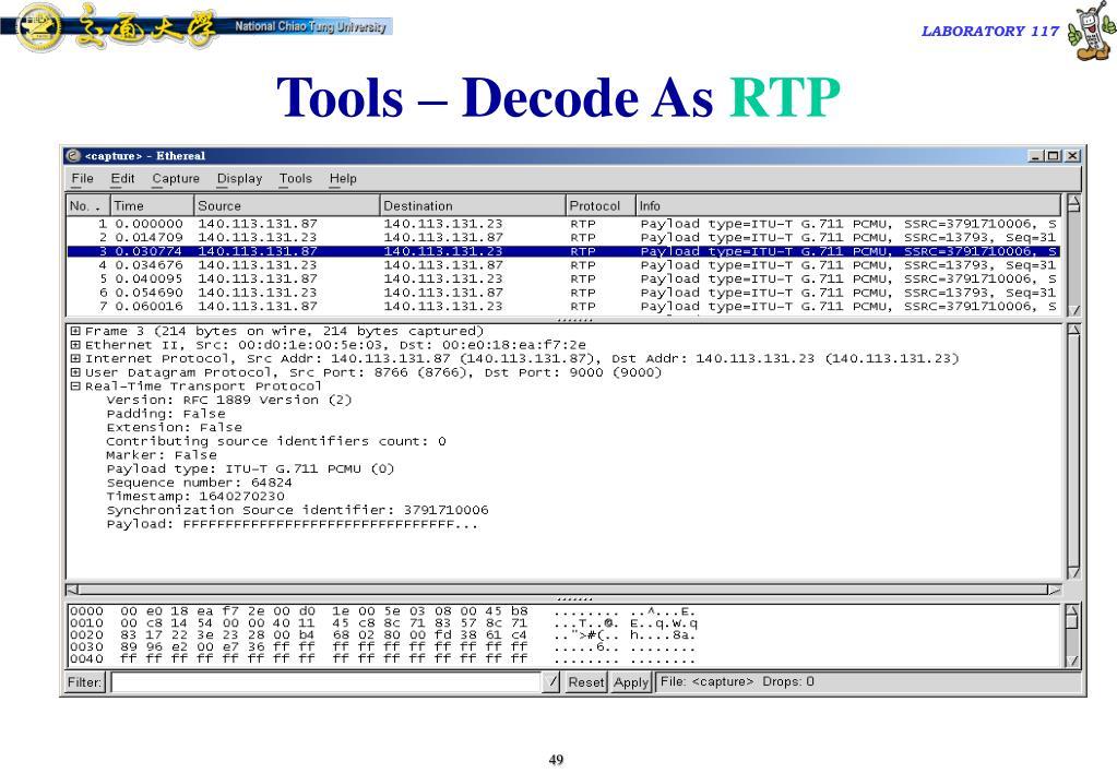 Tools – Decode As