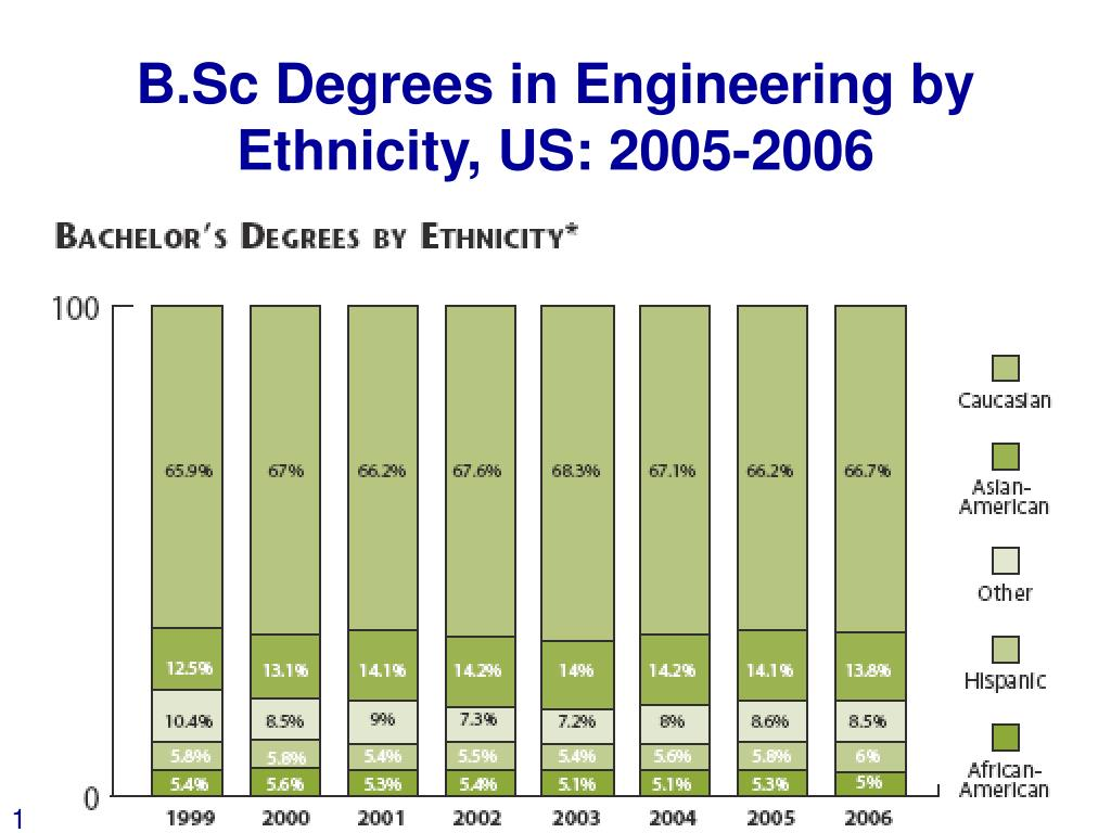 B.Sc Degrees in Engineering by Ethnicity, US: 2005-2006