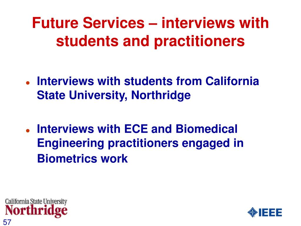 Future Services – interviews with students and practitioners