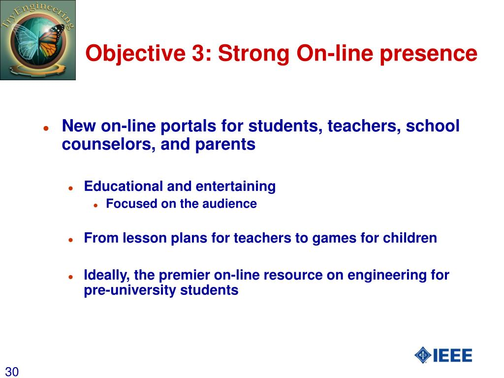 Objective 3: Strong On-line presence