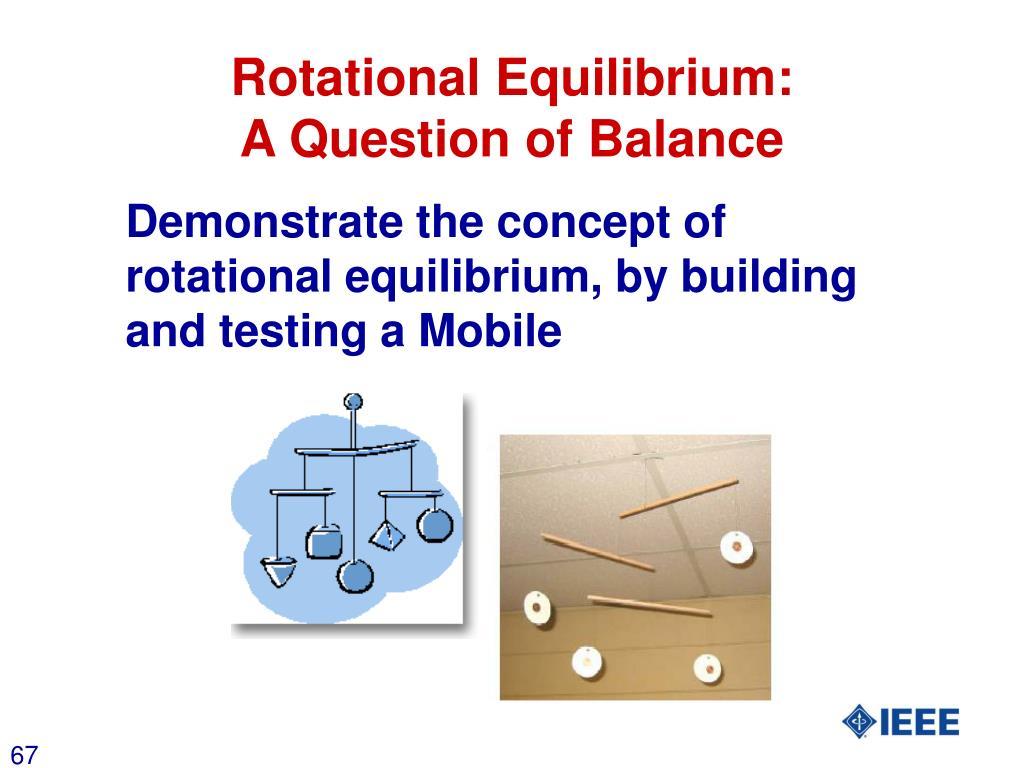 Rotational Equilibrium: