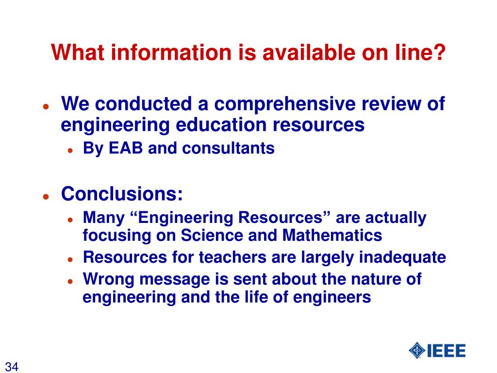 What information is available on line?