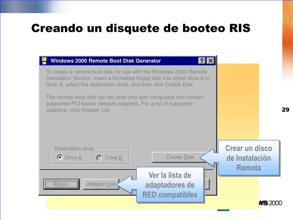 Windows 2000 Remote Boot Disk Generator