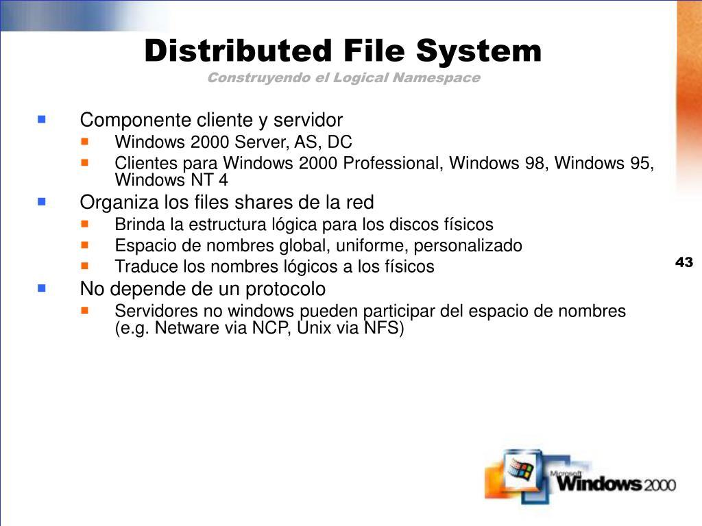 Componente cliente y servidor