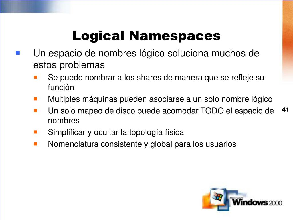 Logical Namespaces