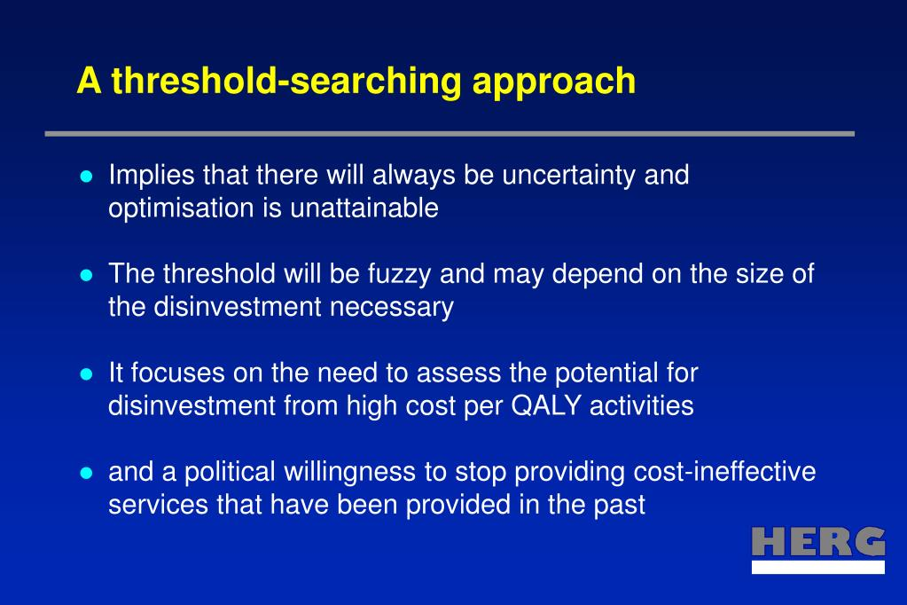A threshold-searching approach
