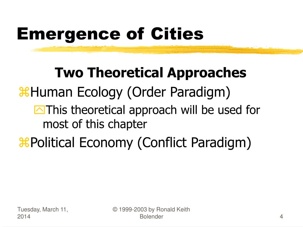 Emergence of Cities