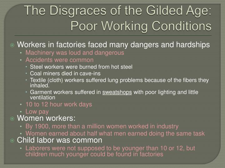 poor working conditions essay