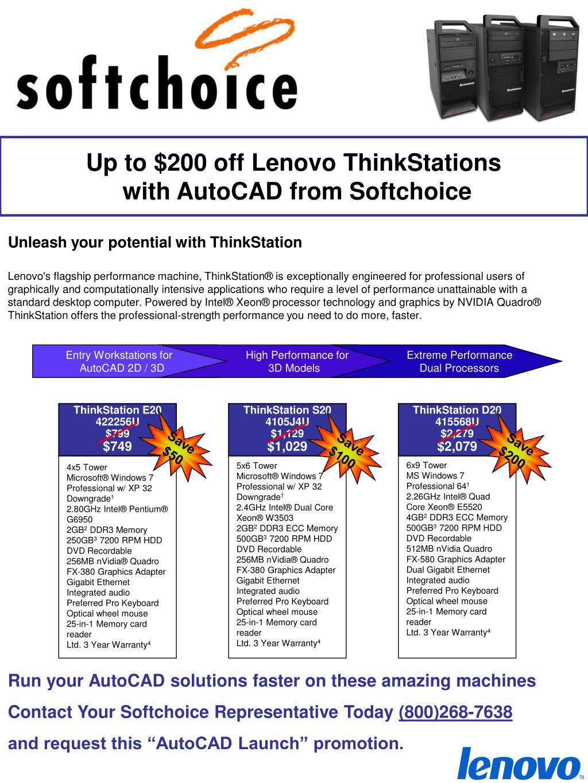 Up to $200 off Lenovo ThinkStations