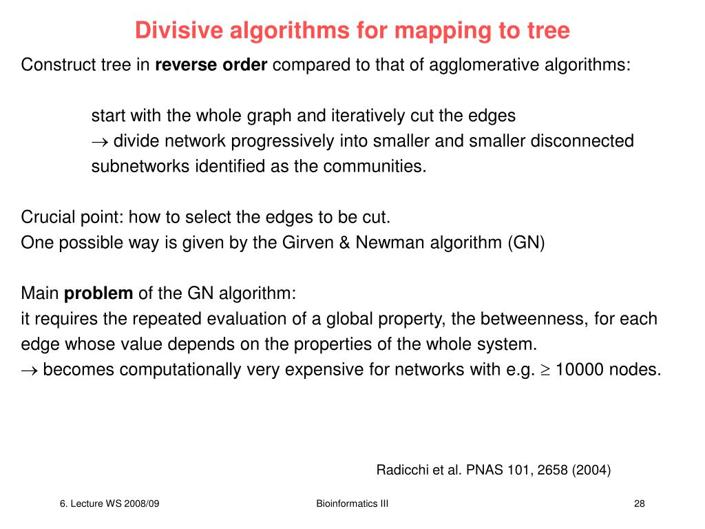 Divisive algorithms for mapping to tree