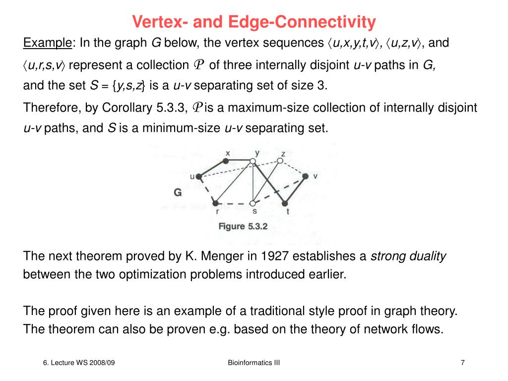 Vertex- and Edge-Connectivity