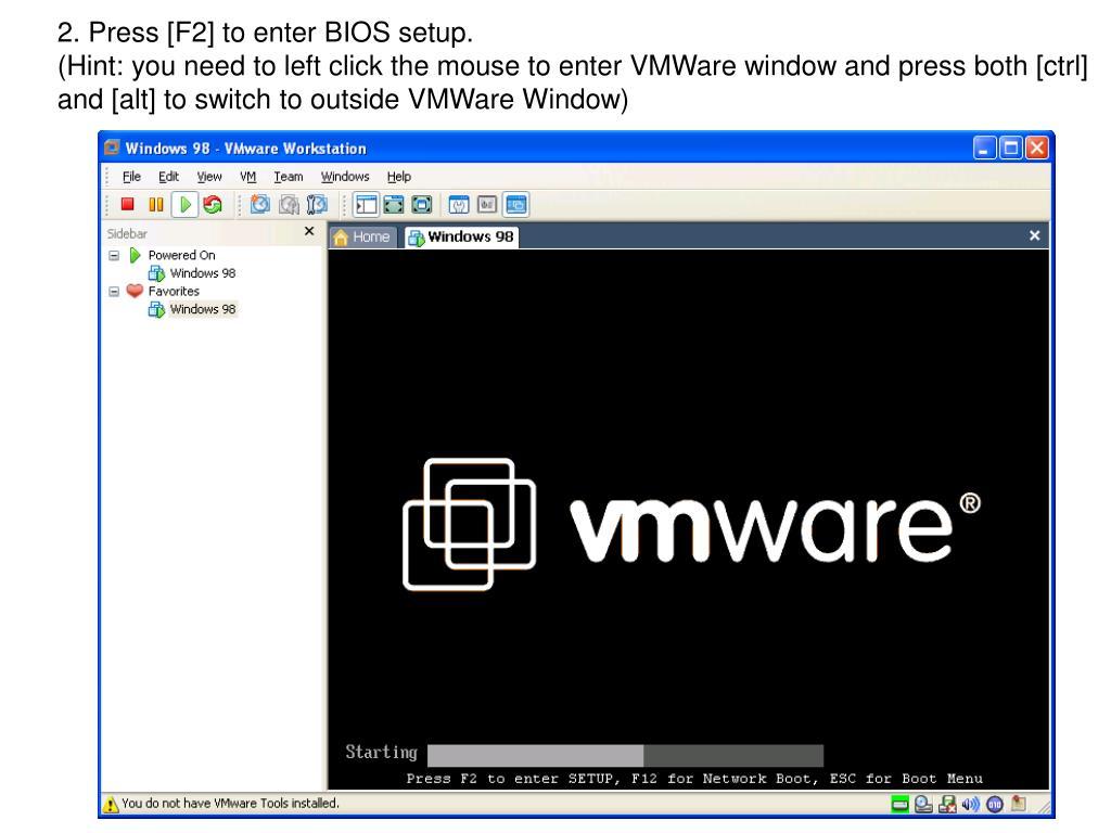 2. Press [F2] to enter BIOS setup.