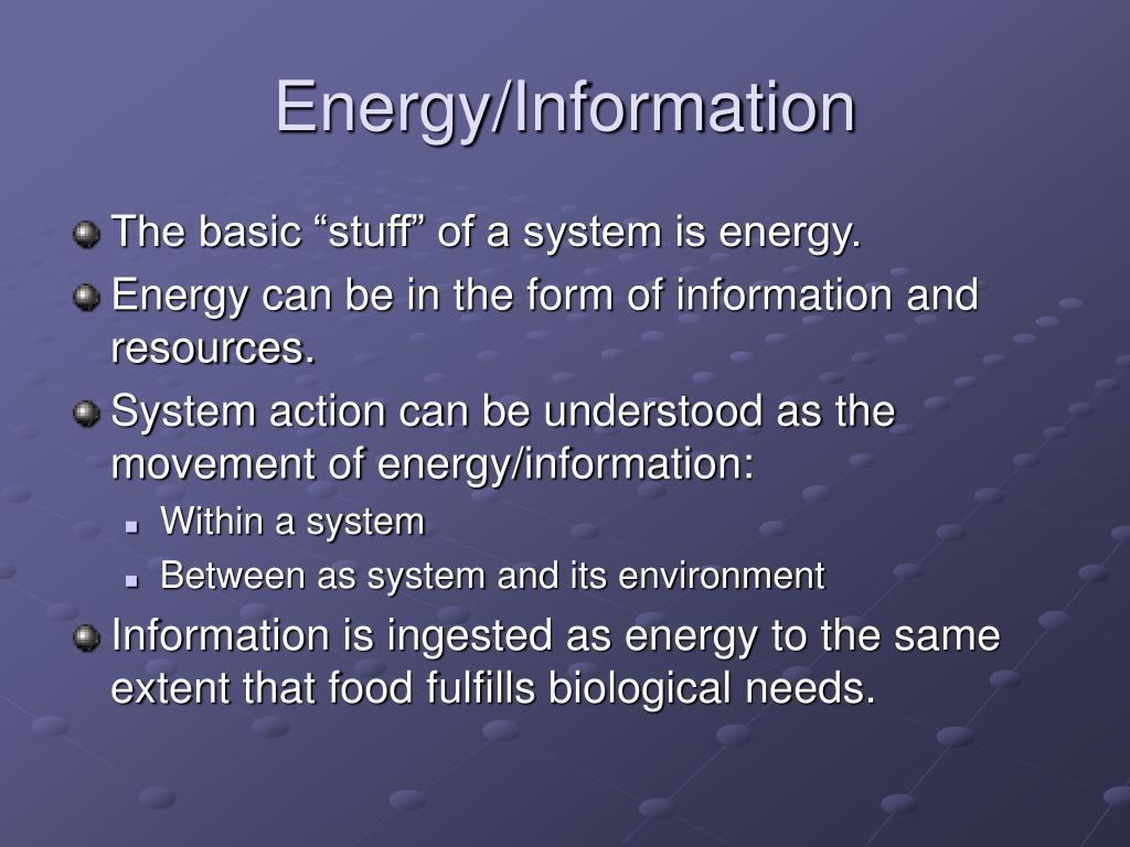 Energy/Information