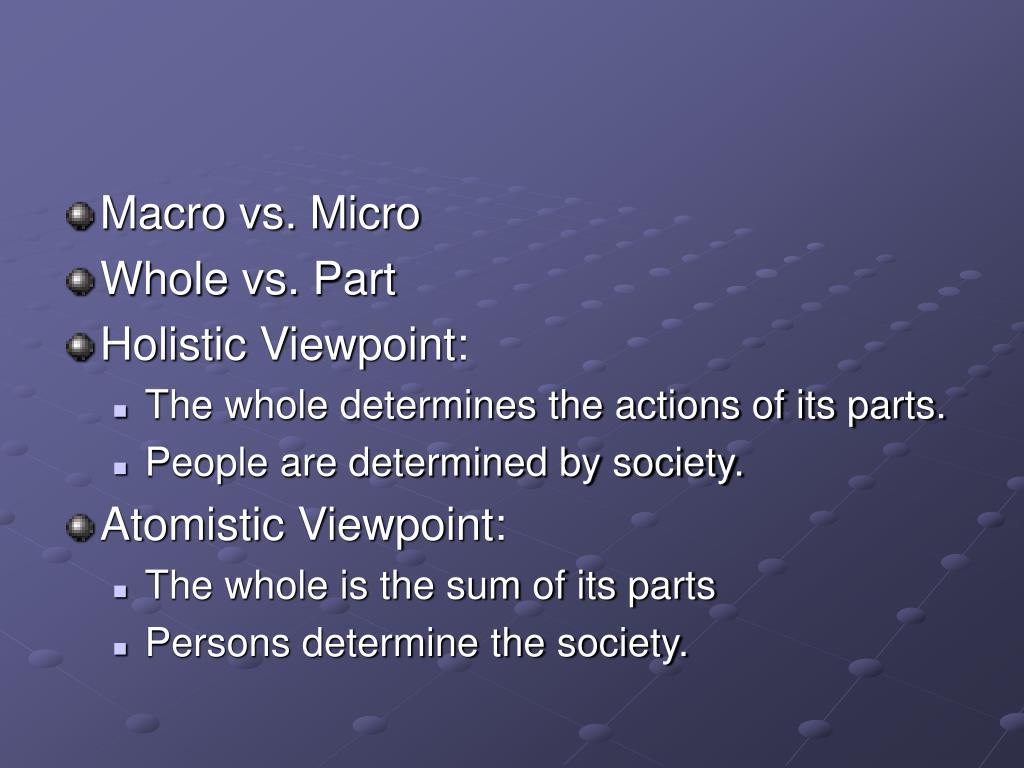 Macro vs. Micro