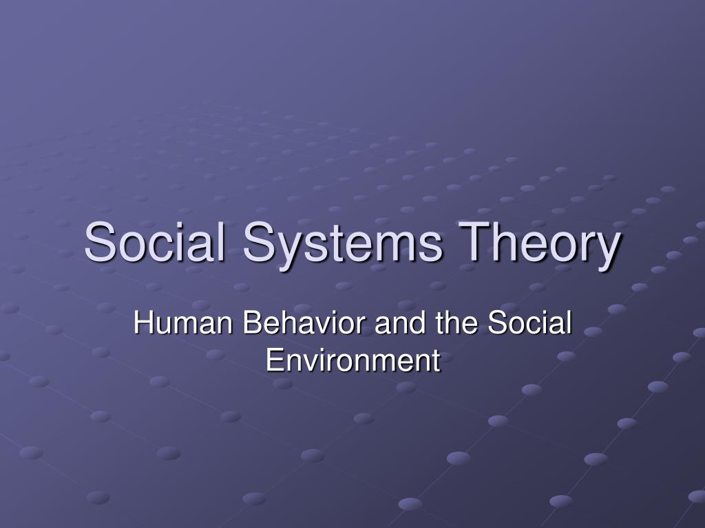 Social Systems Theory