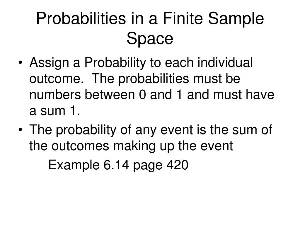 Probabilities in a Finite Sample Space