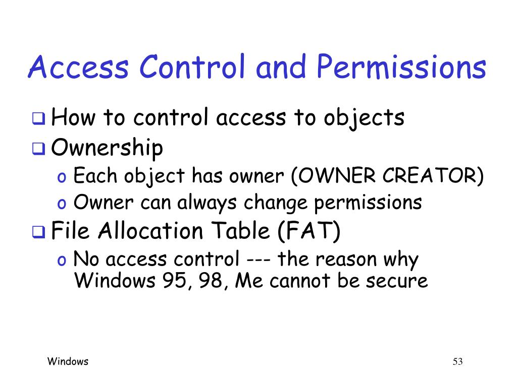 Access Control and Permissions