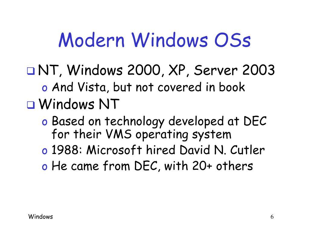 Modern Windows OSs