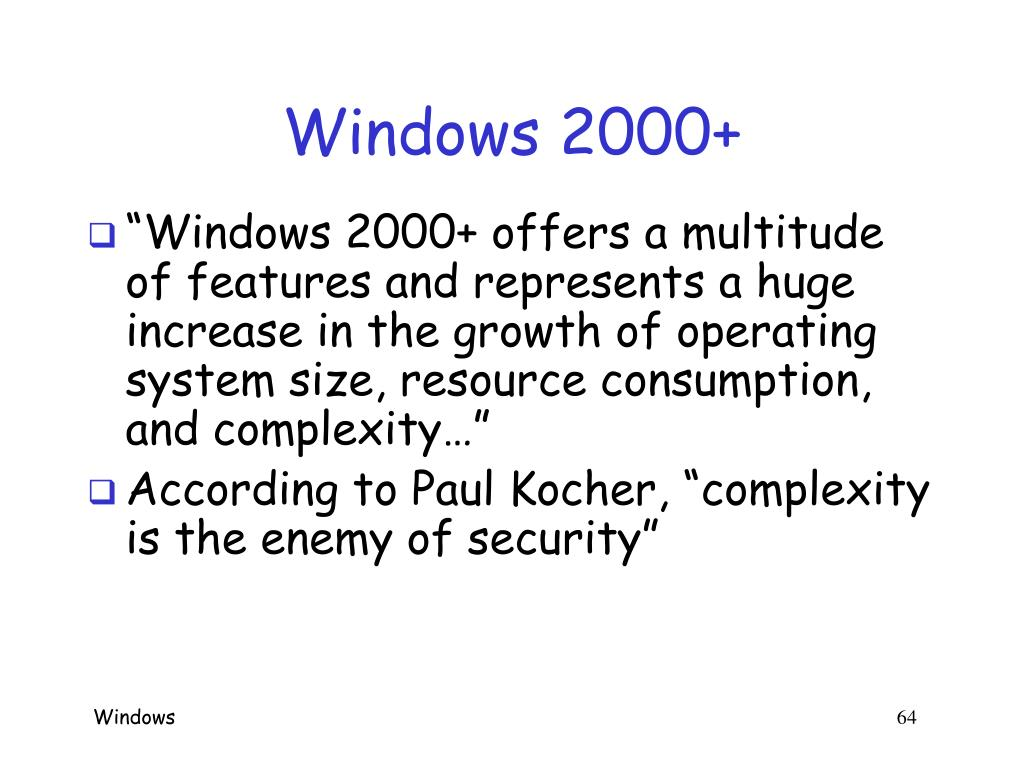 Windows 2000+