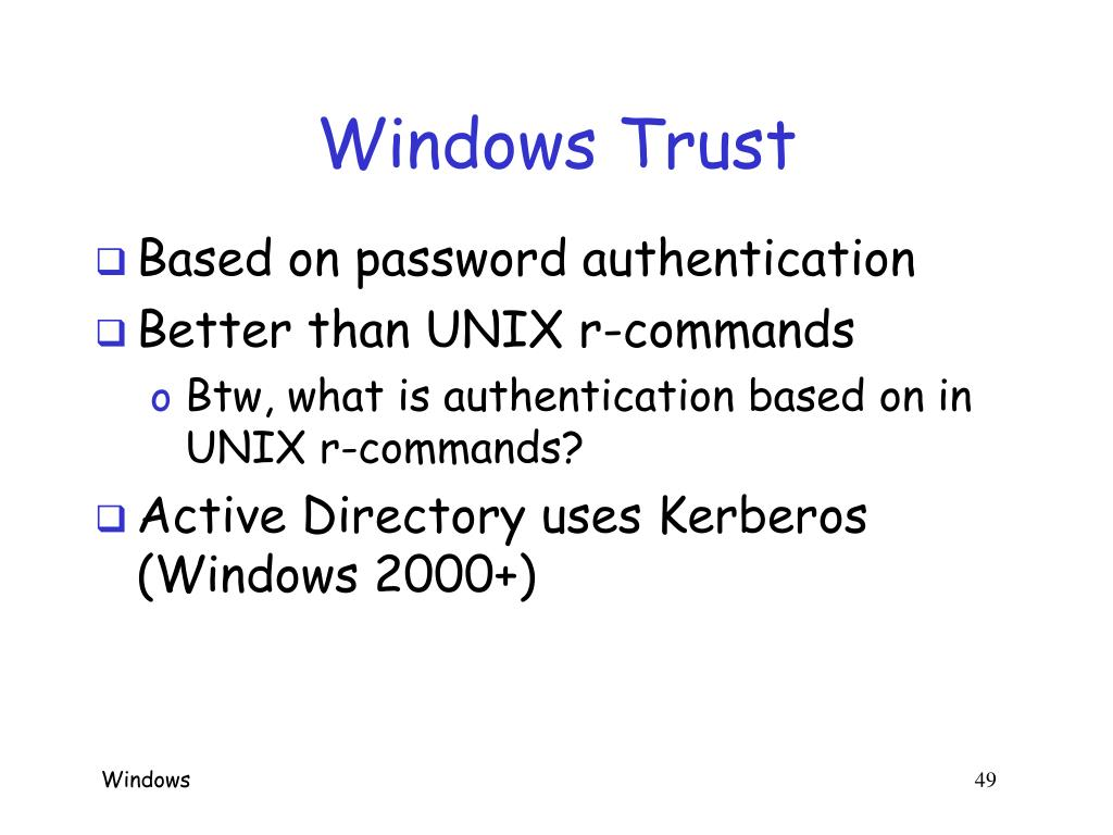 Windows Trust