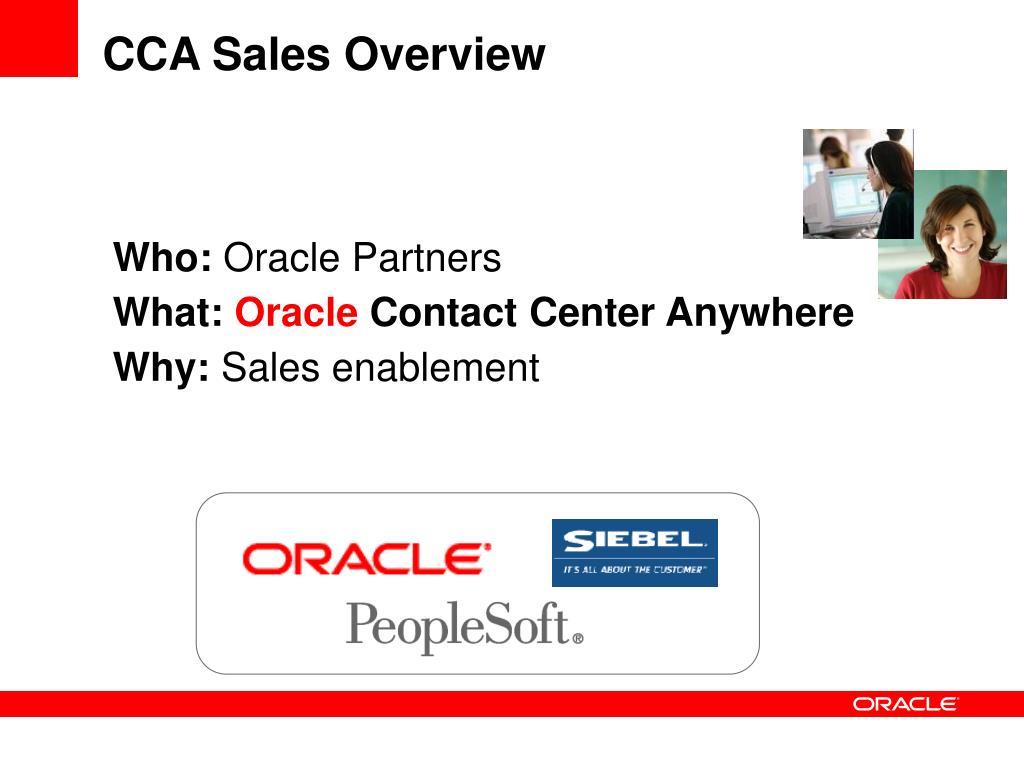 CCA Sales Overview