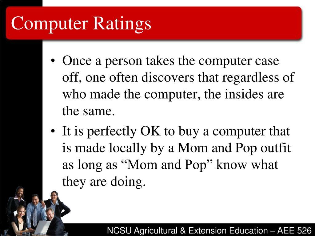 Computer Ratings
