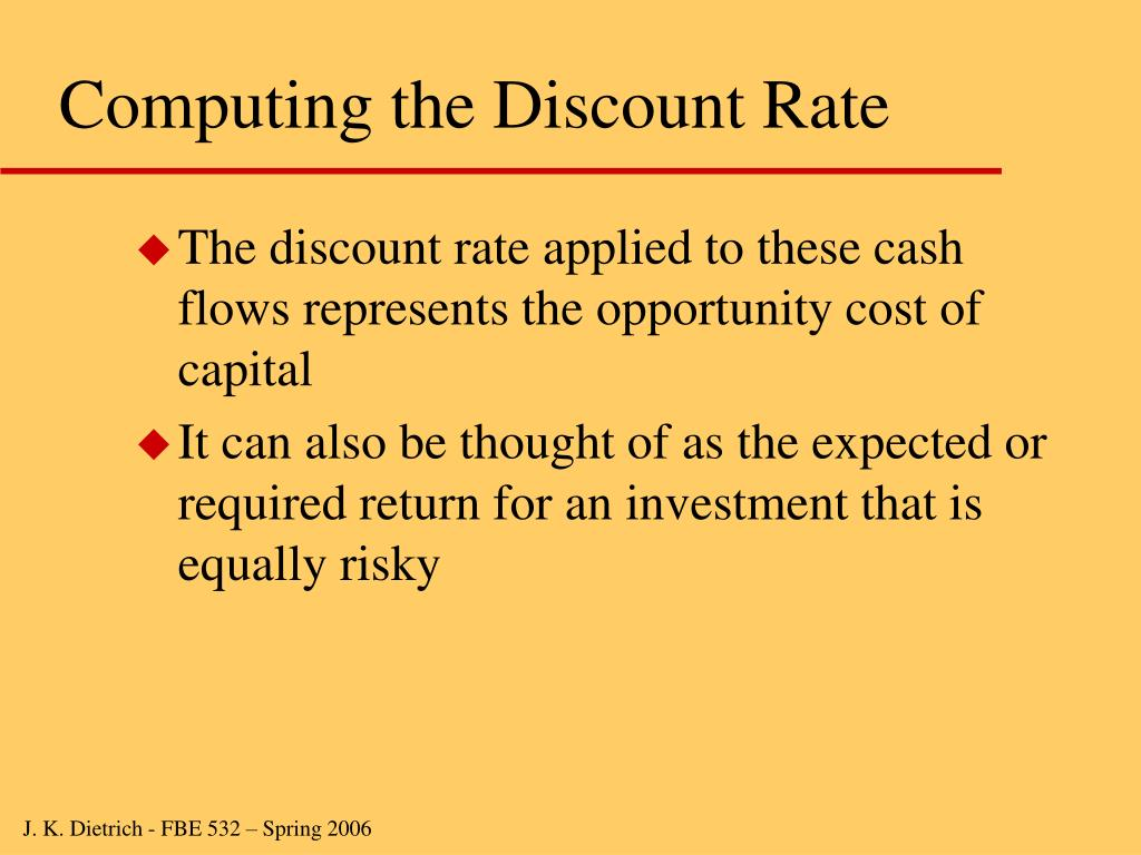 Computing the Discount Rate
