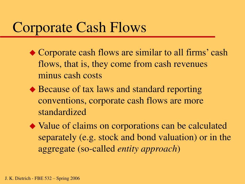 Corporate Cash Flows