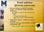 email address @mines sdsmt edu