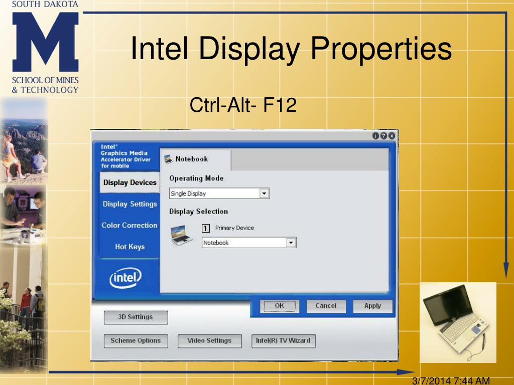 Intel Display Properties