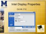 intel display properties