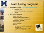 note taking programs