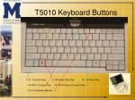 t5010 keyboard buttons