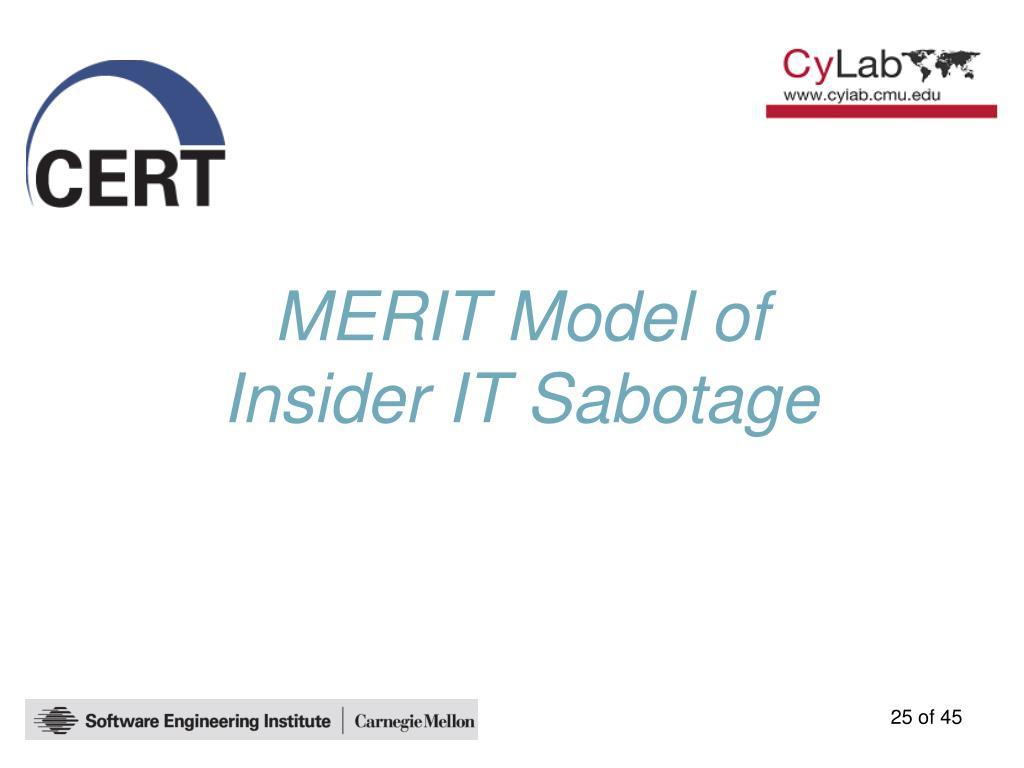 MERIT Model of